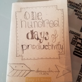 Finished front cover! 100 days of productivity